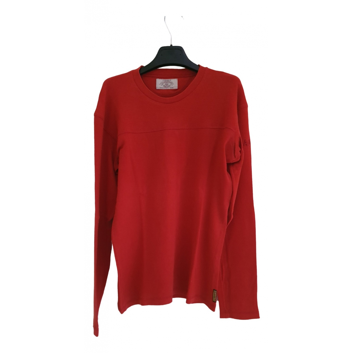 Armani Jeans \N Red Cotton Knitwear & Sweatshirts for Men M International