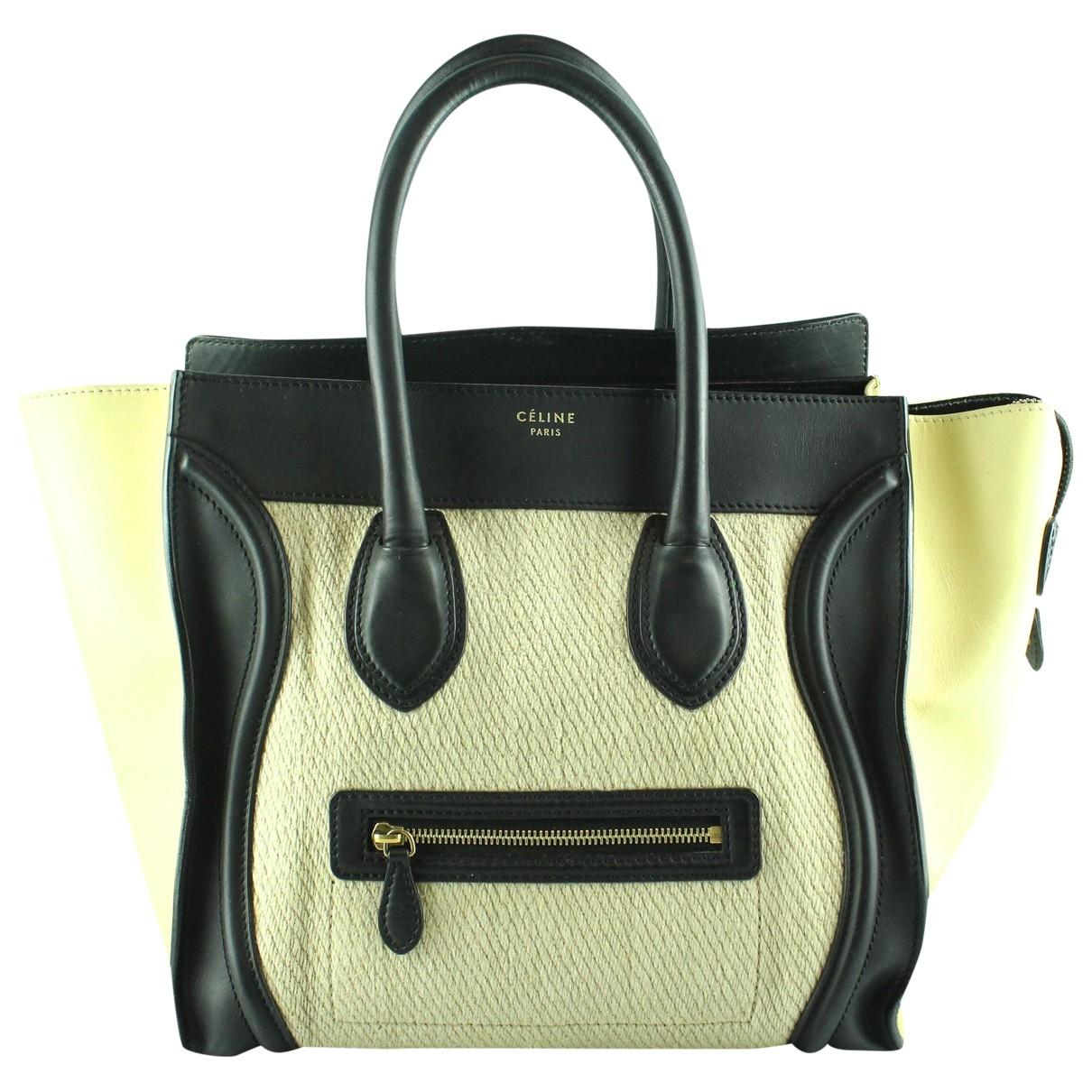 Celine Luggage Ecru Cloth handbag for Women \N