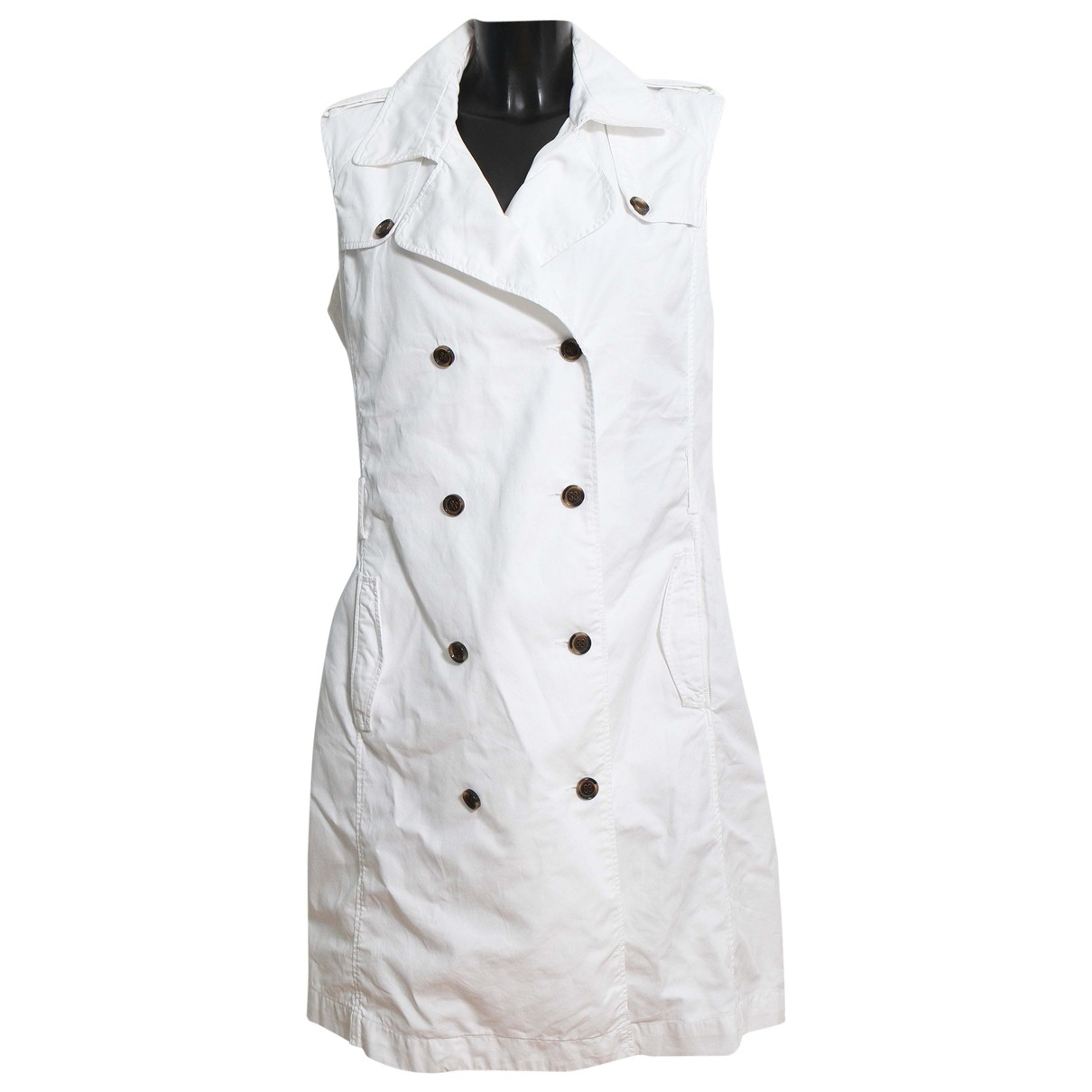Zapa \N White Cotton dress for Women 42 FR