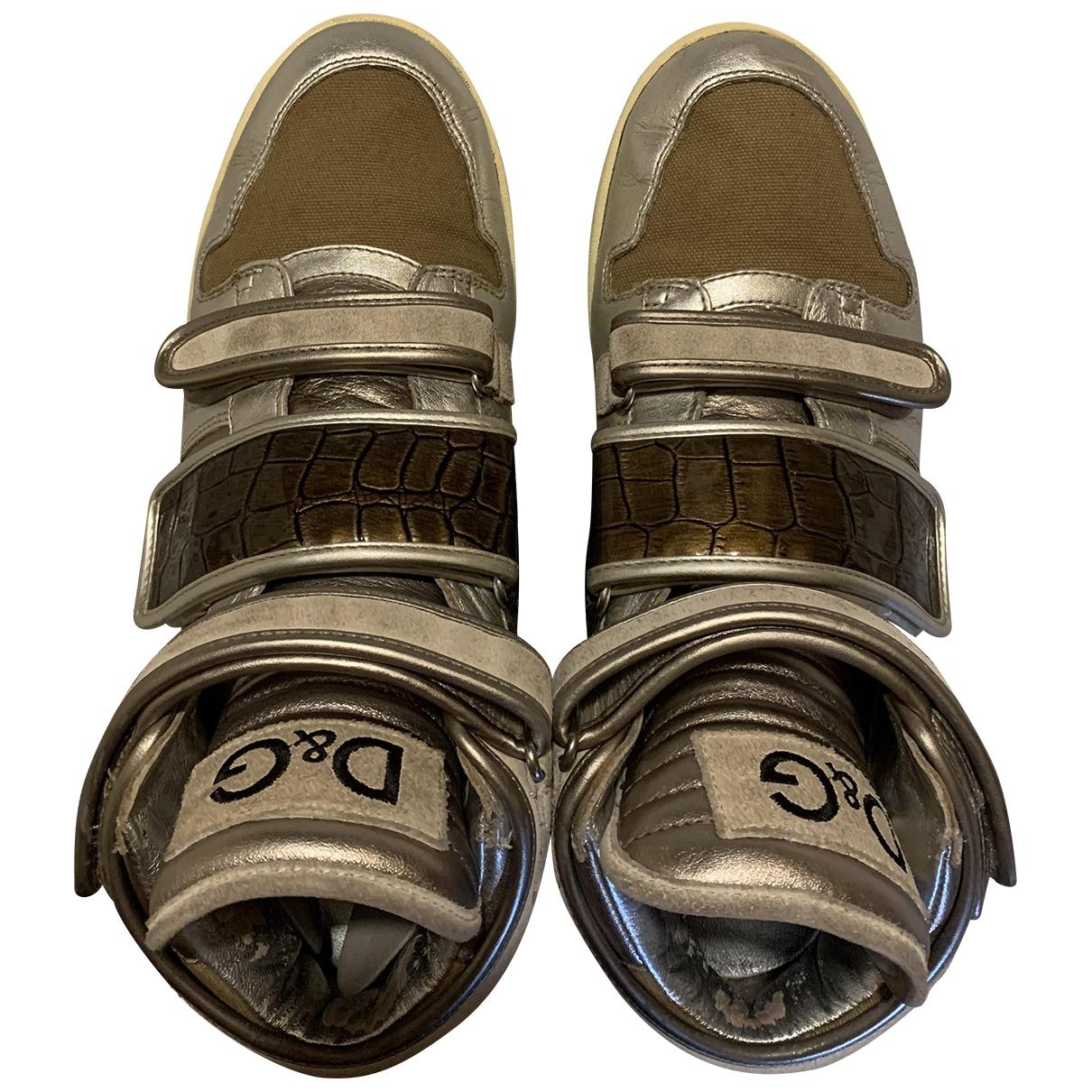 D&g \N Sneakers in  Beige Leder