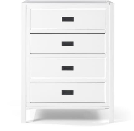 BR4DLYDDRWH 40 Classic Solid Wood 4 in Drawer Chest in