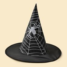 Halloween Spider Pattern Witch Hat