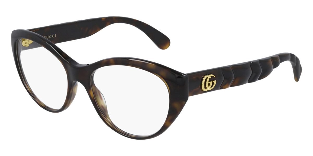 Gucci GG0812O 002 Women's Glasses Tortoise Size 54 - Free Lenses - HSA/FSA Insurance - Blue Light Block Available