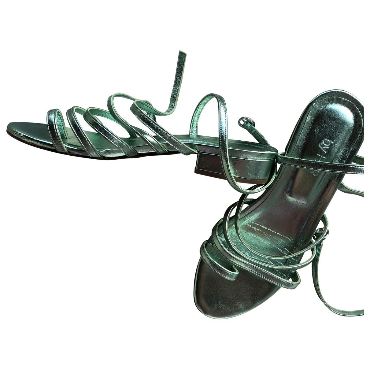 By Far \N Metallic Leather Sandals for Women 37 EU