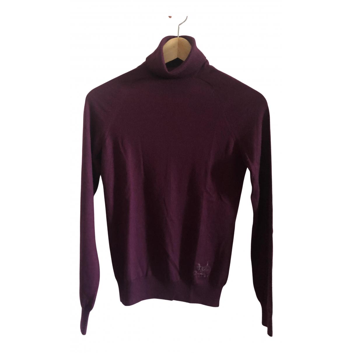 Celine - Pull   pour femme en cachemire - violet