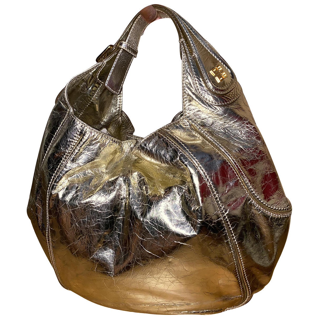Givenchy N Gold Patent leather handbag for Women N