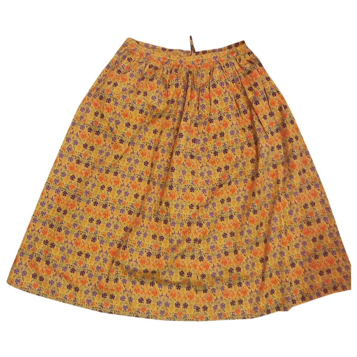 Celine \N Yellow Cotton skirt for Women S International