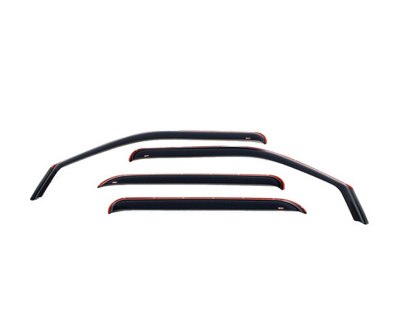 Westin Automotive 72-39405 Wind Deflectors - Slim Design Smoke GMC Sierra Crew 07-13