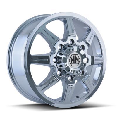 Mayhem Monstir 8101 Dually Front, 22x8.25 Wheel with 8x6.5 Bolt Pattern - Chrome - 8101-22881CF121