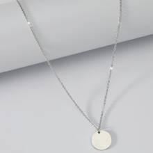 Halskette mit Disc Anhaenger