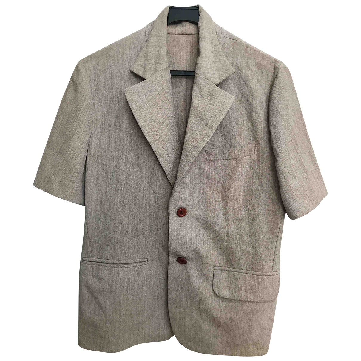 Non Signe / Unsigned \N Hemden in  Beige Polyester