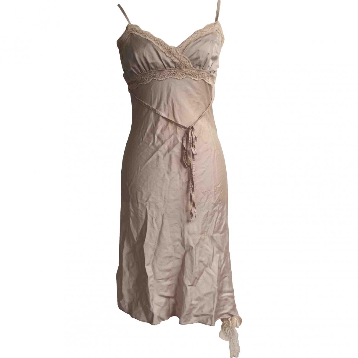 - Robe   pour femme en soie - rose
