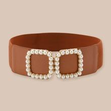 Cinturon con perla artificial