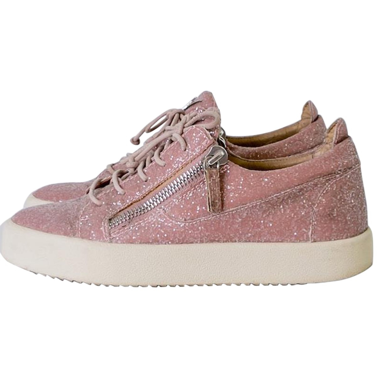 Giuseppe Zanotti \N Sneakers in  Rosa Mit Pailletten