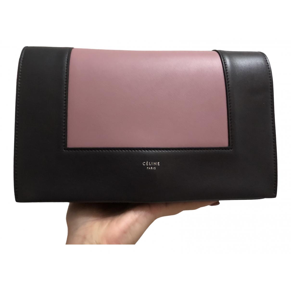 Celine - Sac a main Frame pour femme en cuir - rose