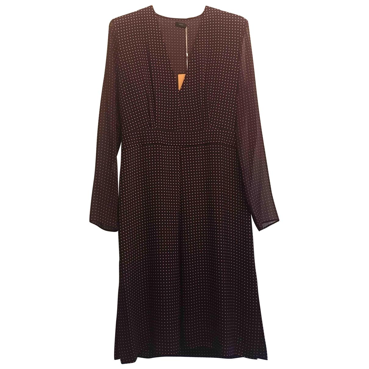 Joseph \N Burgundy Silk dress for Women 40 FR
