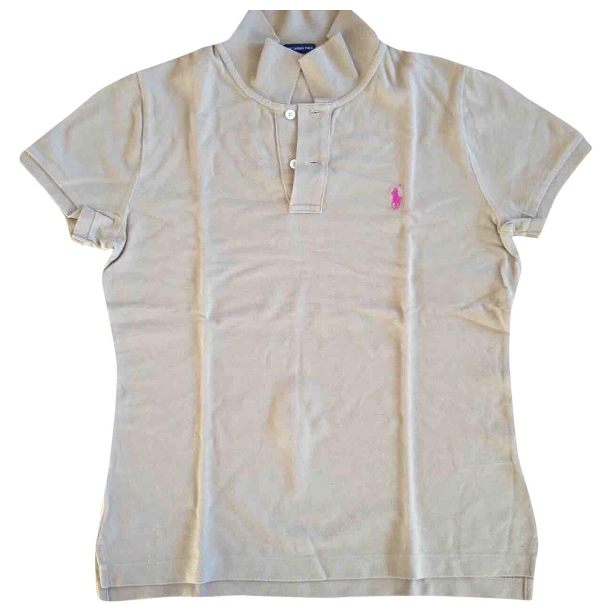 Ralph Lauren - Top   pour femme en coton - camel