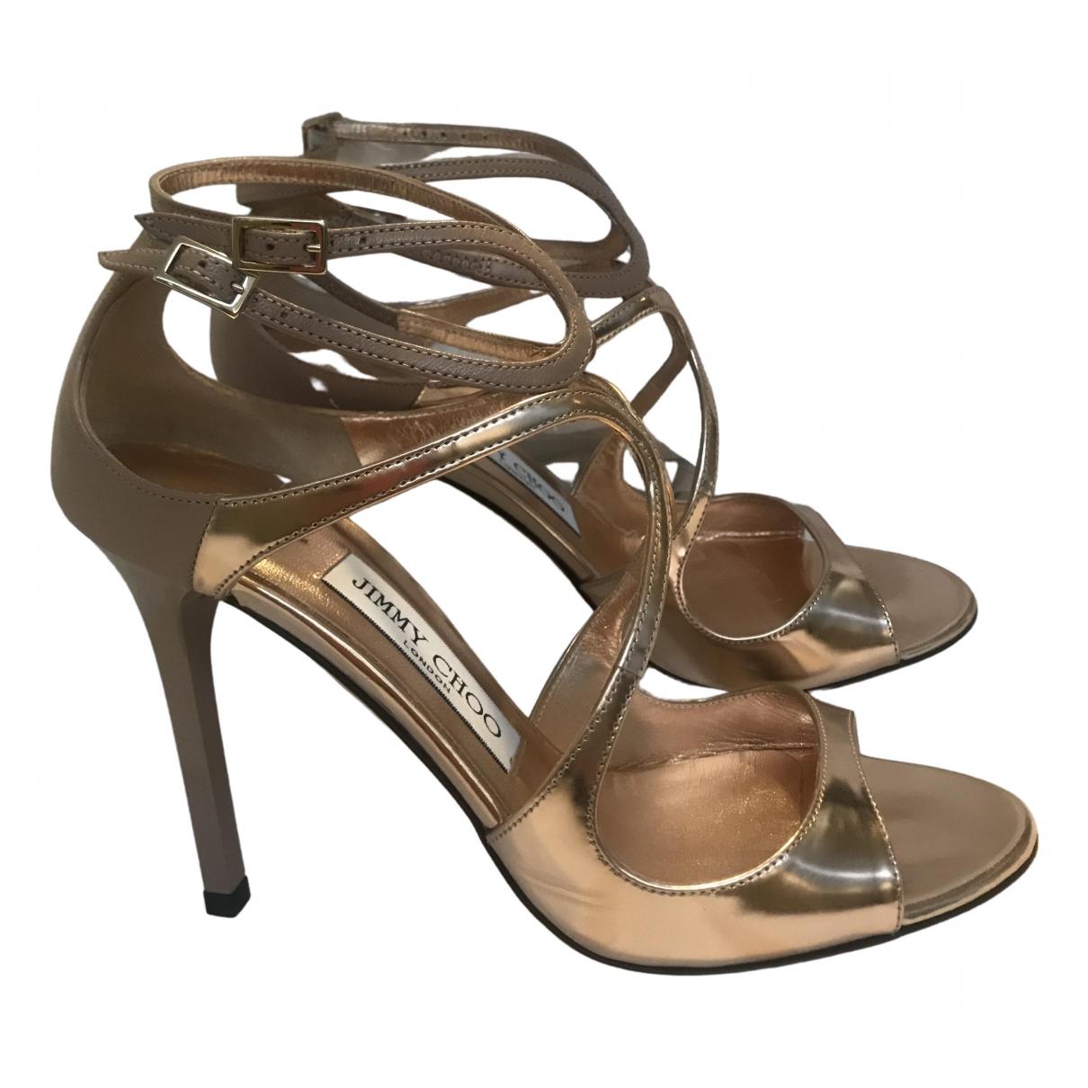 Jimmy Choo \N Metallic Leather Heels for Women 37 EU