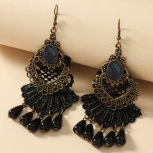 Vintage Ohrringe mit Perlen & Spitze