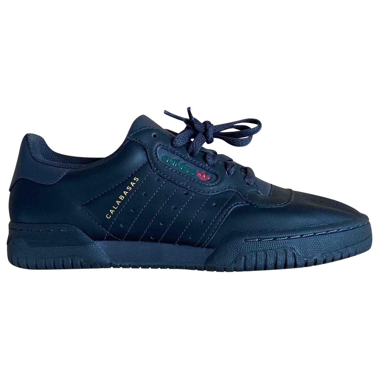 Yeezy X Adidas - Baskets POWERPHASE pour femme en cuir - noir