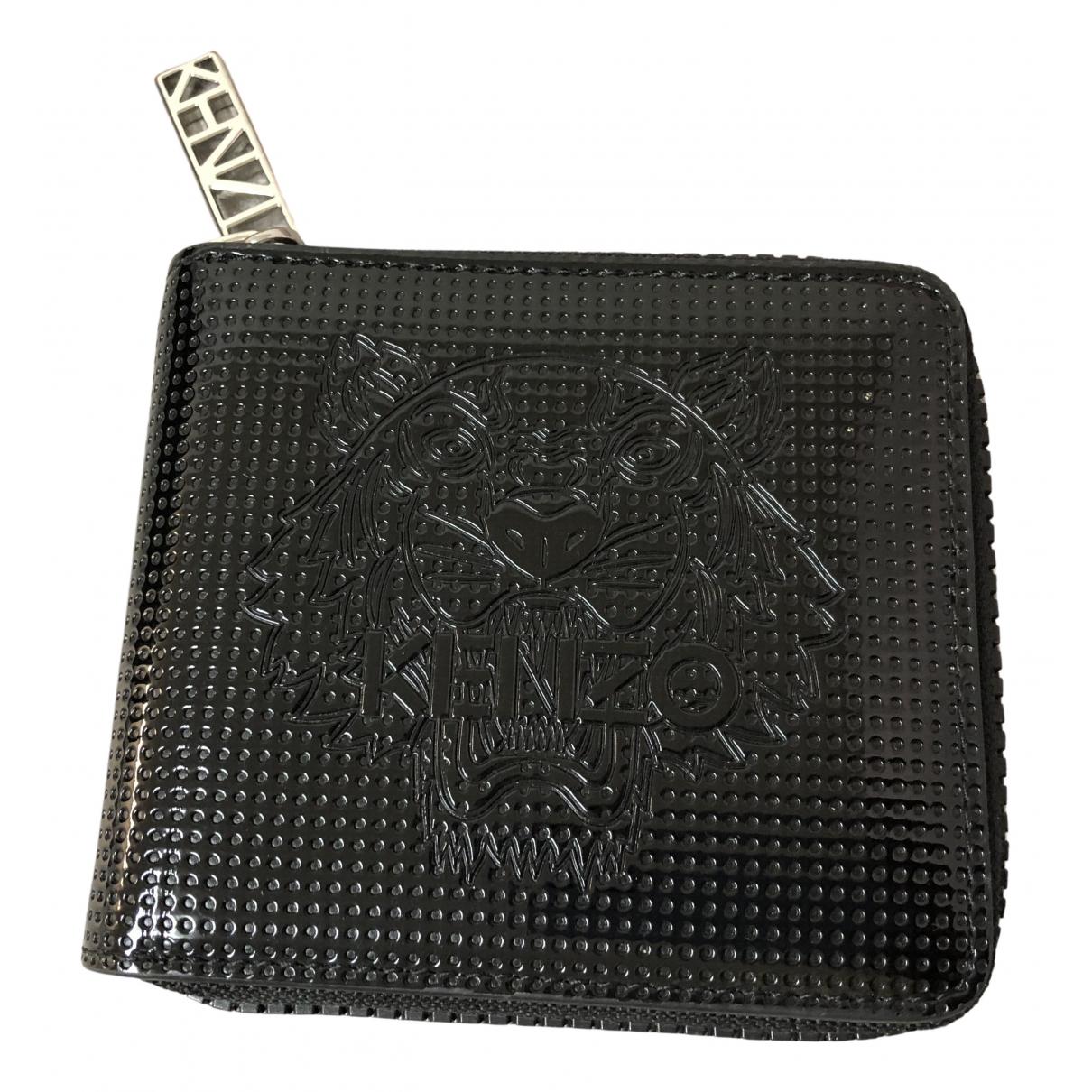 Kenzo - Portefeuille   pour femme en toile - noir
