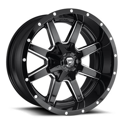 Fuel Offroad Maverick D610 Wheel, 22x9.5 with 6 on 135 / 6 on 5.5 Bolt Pattern - Black / Milled - D61022959860