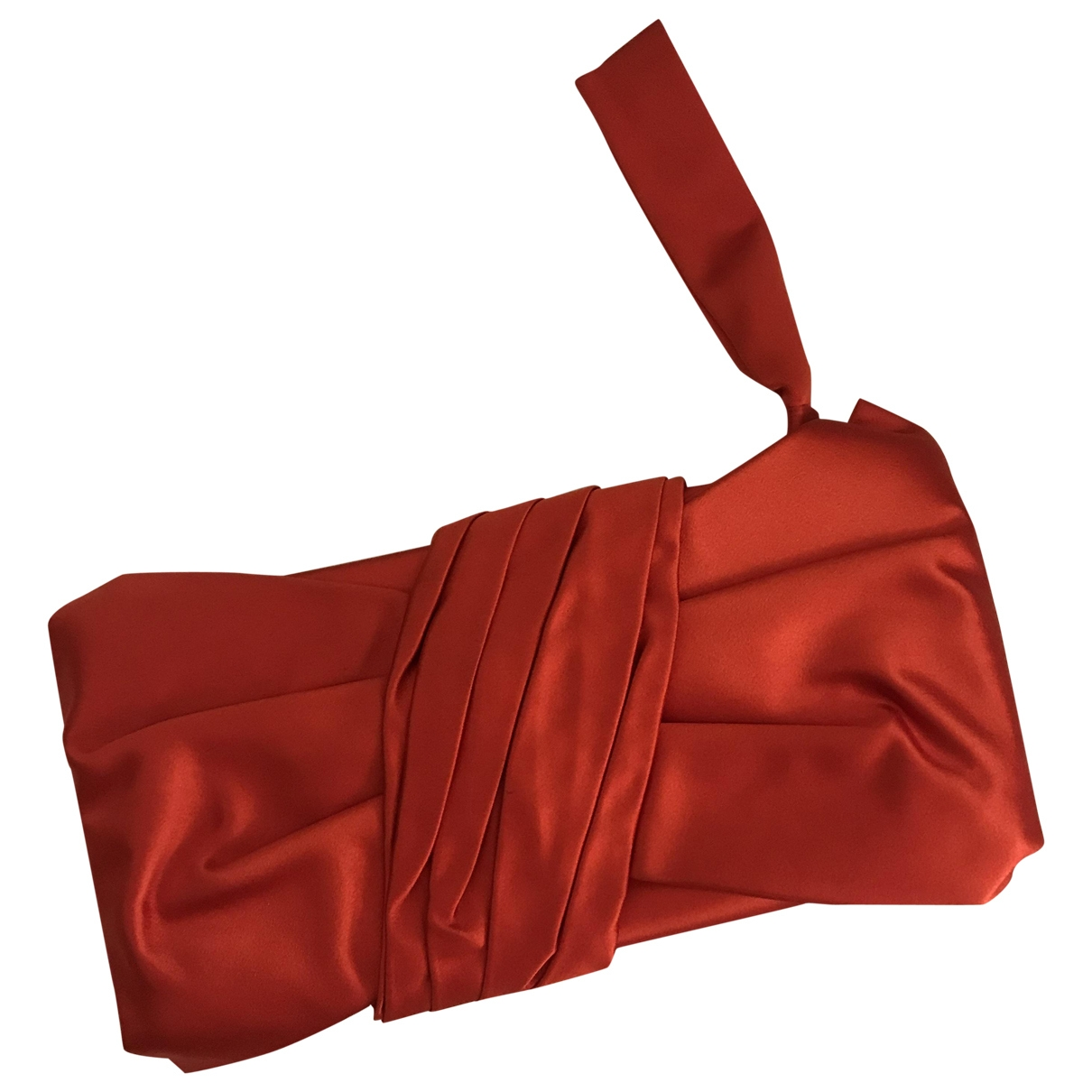 Valentino Garavani \N Clutch in  Rot Seide
