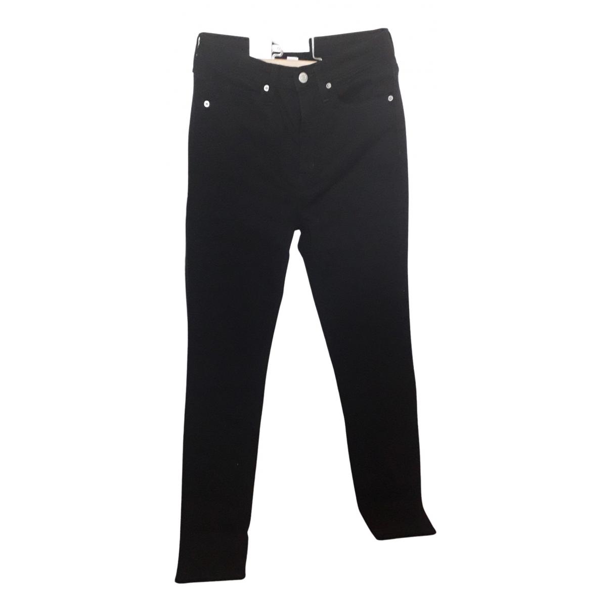 Calvin Klein N Black Cotton - elasthane Jeans for Women 38 FR