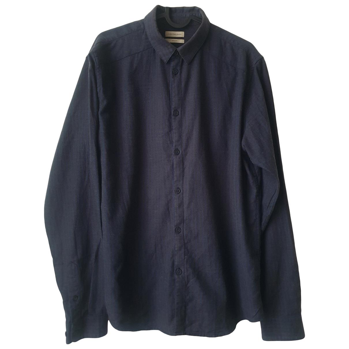 Calvin Klein \N Hemden in  Marine Baumwolle