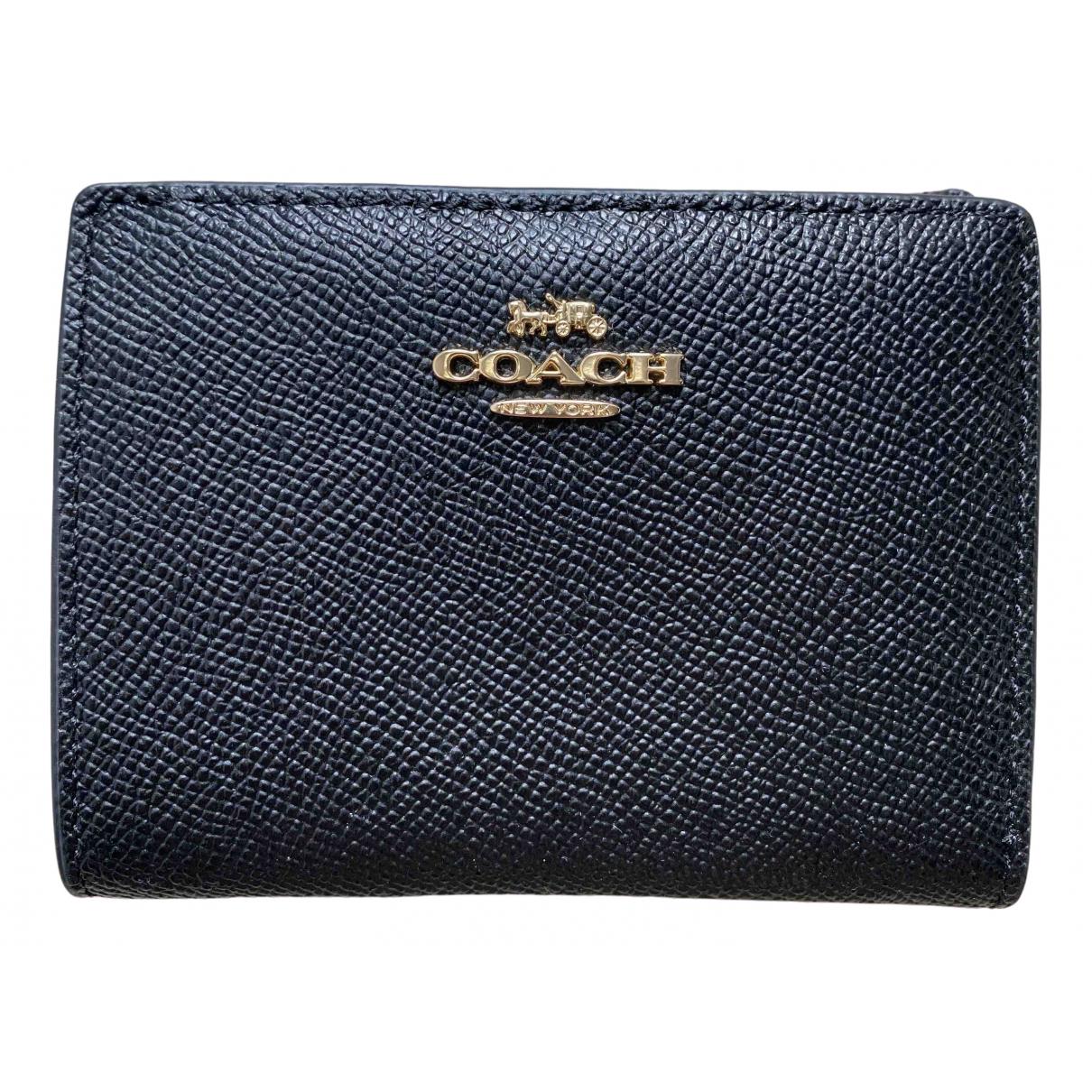 Coach - Portefeuille   pour femme en cuir - noir