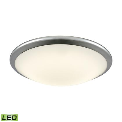 FML4550-10-15 Clancy Integrated LED Round Flush Mount in Chrome with Opal Glass -