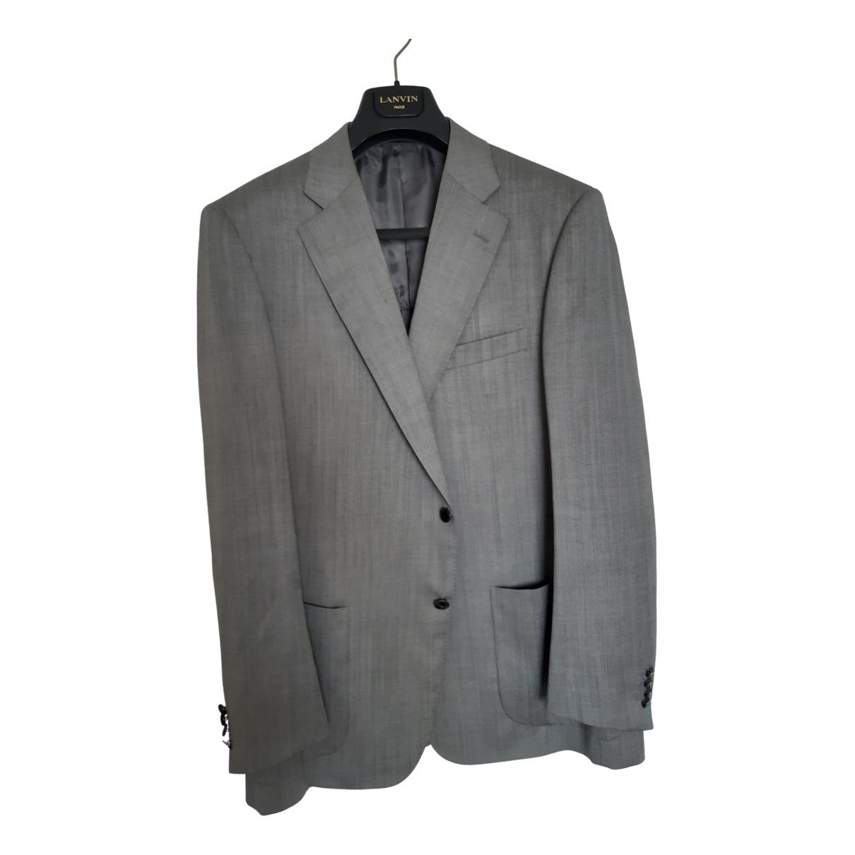 Lanvin \N Jacke in  Grau Wolle