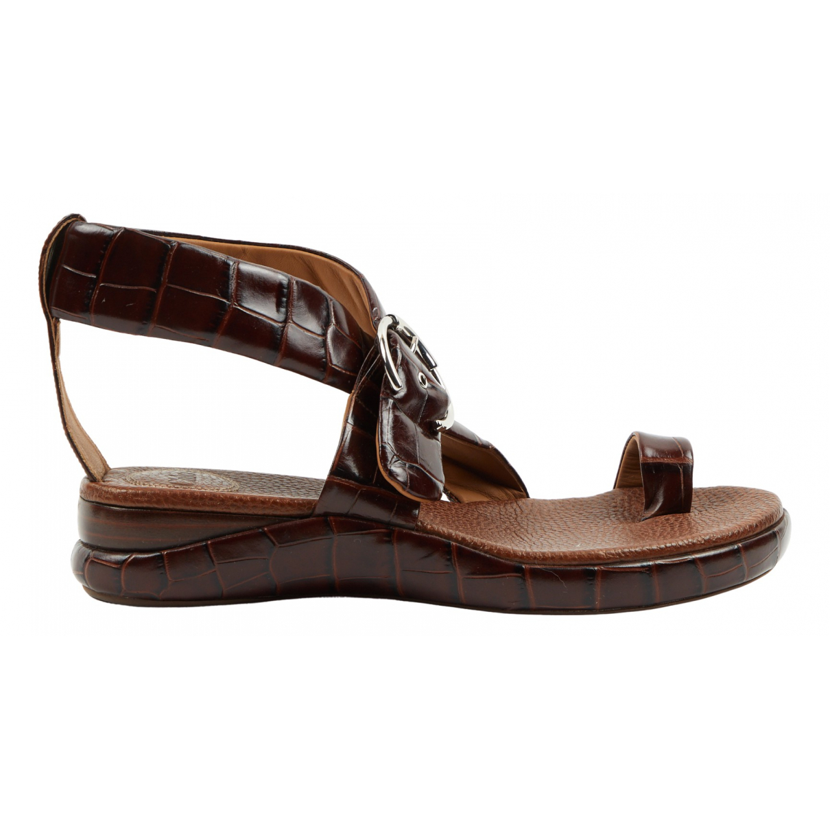 Chloe - Sandales   pour femme en cuir - marron