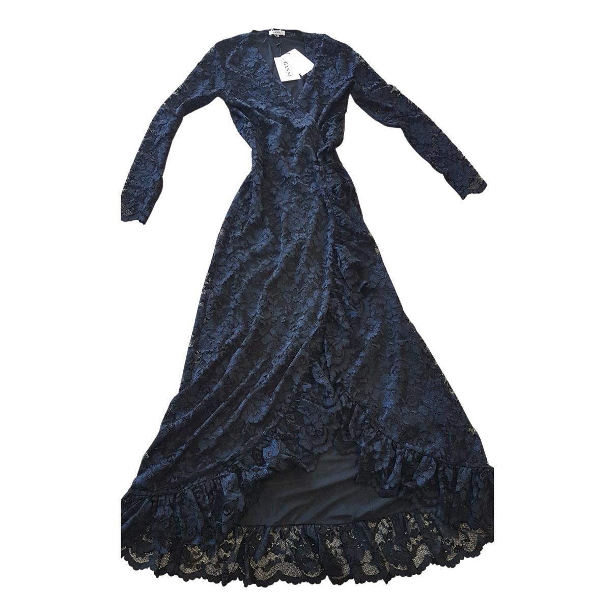 Ganni \N Kleid in  Marine Spitze