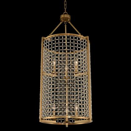 Verona 032150-043-FR001 (3+3)-Light 2 Tier Foyer in Brushed Pearlized Brass Finish with Firenze Clear