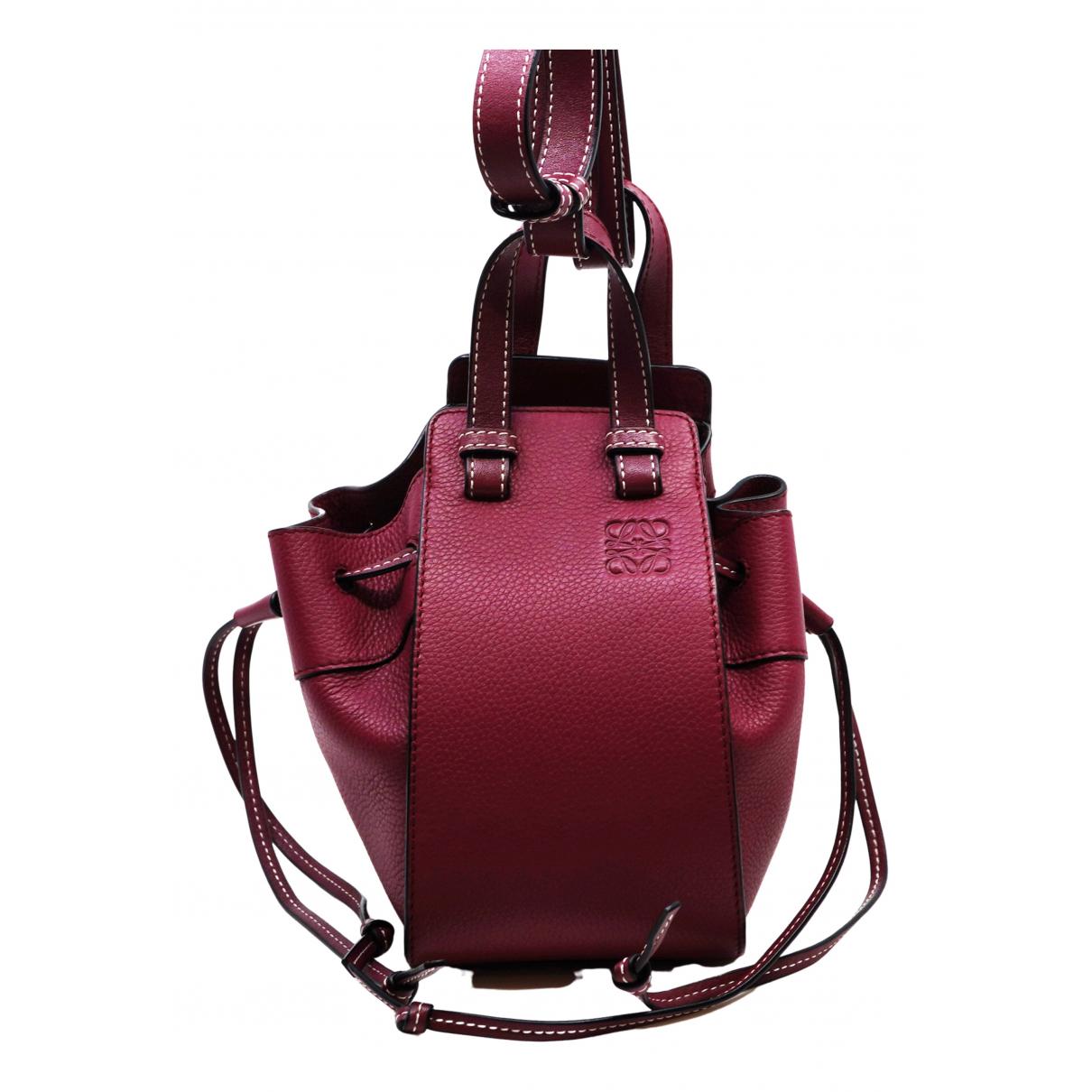 Loewe Hammock Handtasche in  Rot Leder