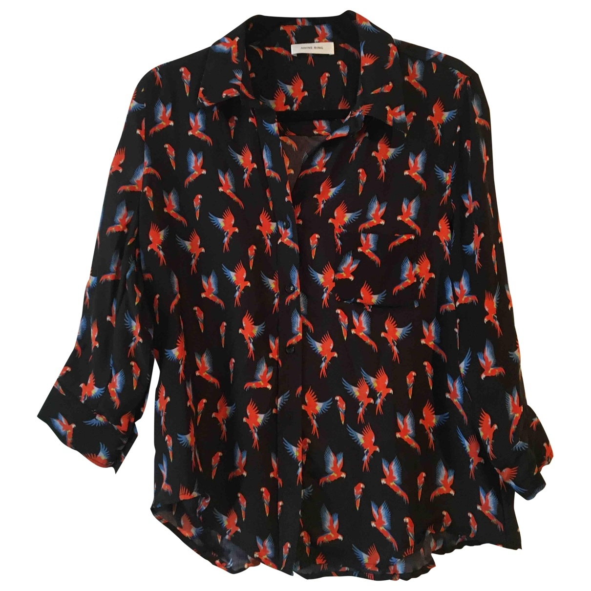 Anine Bing \N Navy Silk  top for Women 36 FR