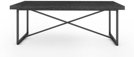 Signature Home Collection FT48ICFCG X Coffee Table with Textured  Powder Coated Metal Frame  Thick MDF Top and Easy Assembly in