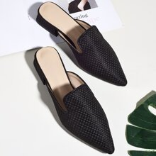 Point Toe Braided Mules