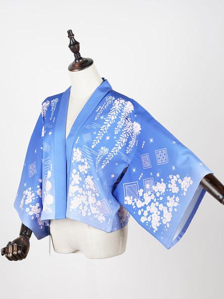 Milanoo Kimono Lolita Cardigan Print Wa Lolita Cape
