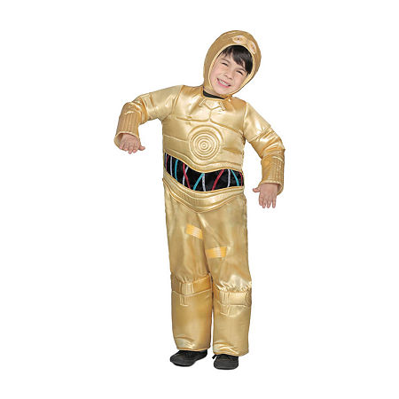 Boys Classic Star Wars Premium C-3Po Jumpsuit Costume, Medium , Yellow
