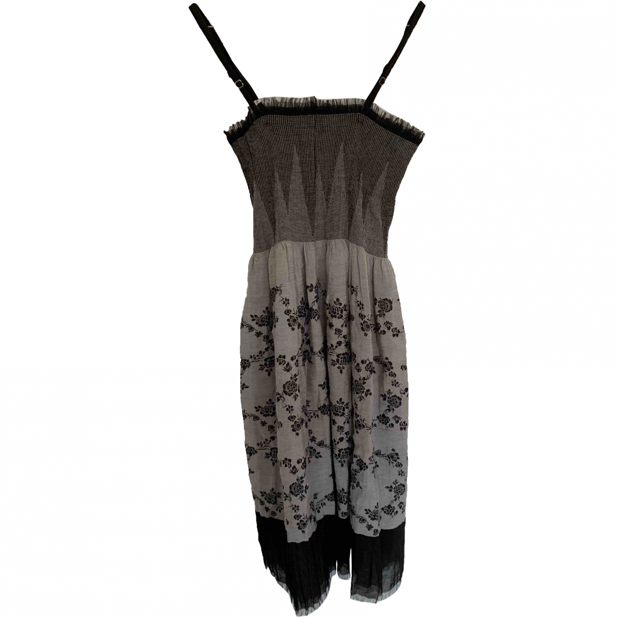 - Robe   pour femme en soie - argente