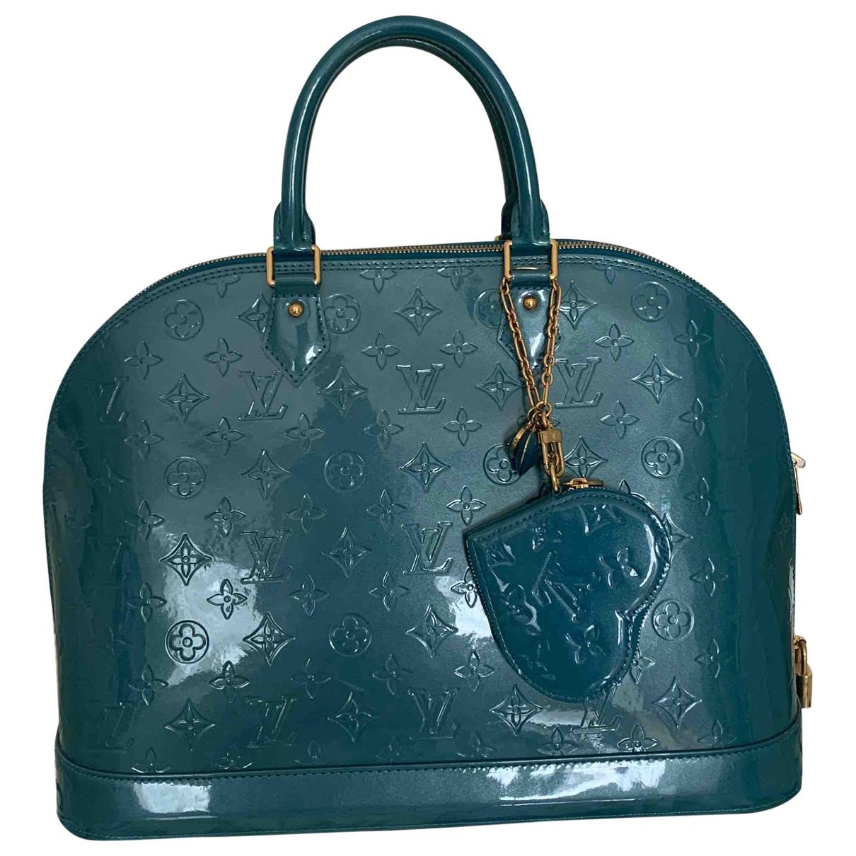 Louis Vuitton Alma BB Handtasche in  Tuerkis Lackleder