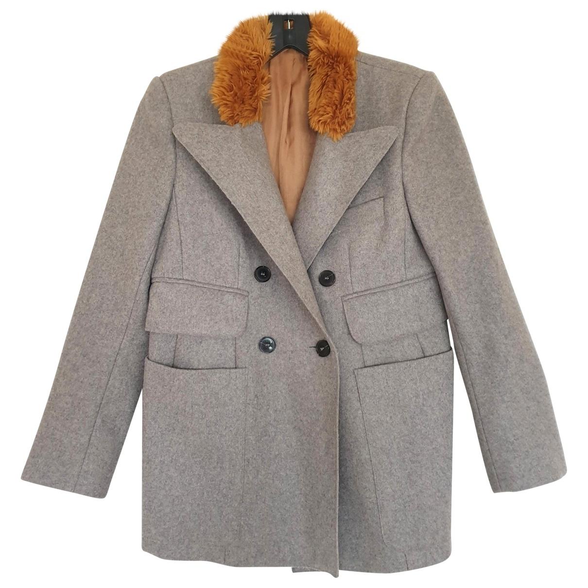 Carven \N Maentel in  Grau Wolle