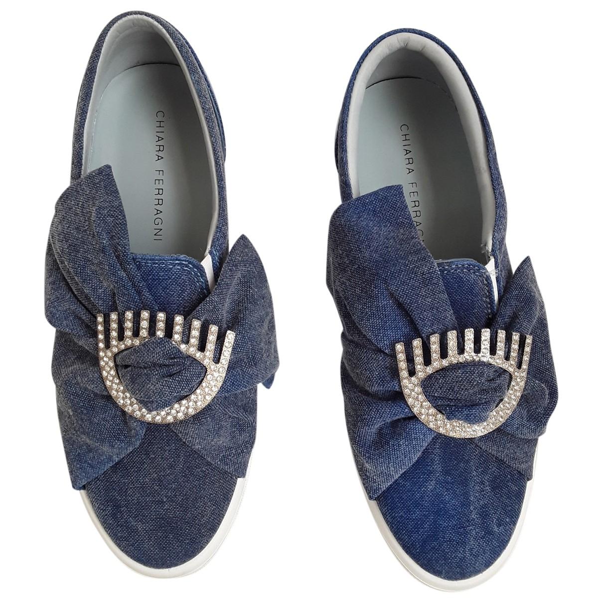Chiara Ferragni - Baskets   pour femme en toile - bleu