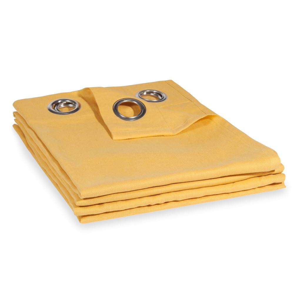 Vorhang aus grobem Leinen gelb, 1 Vorhang 130x300
