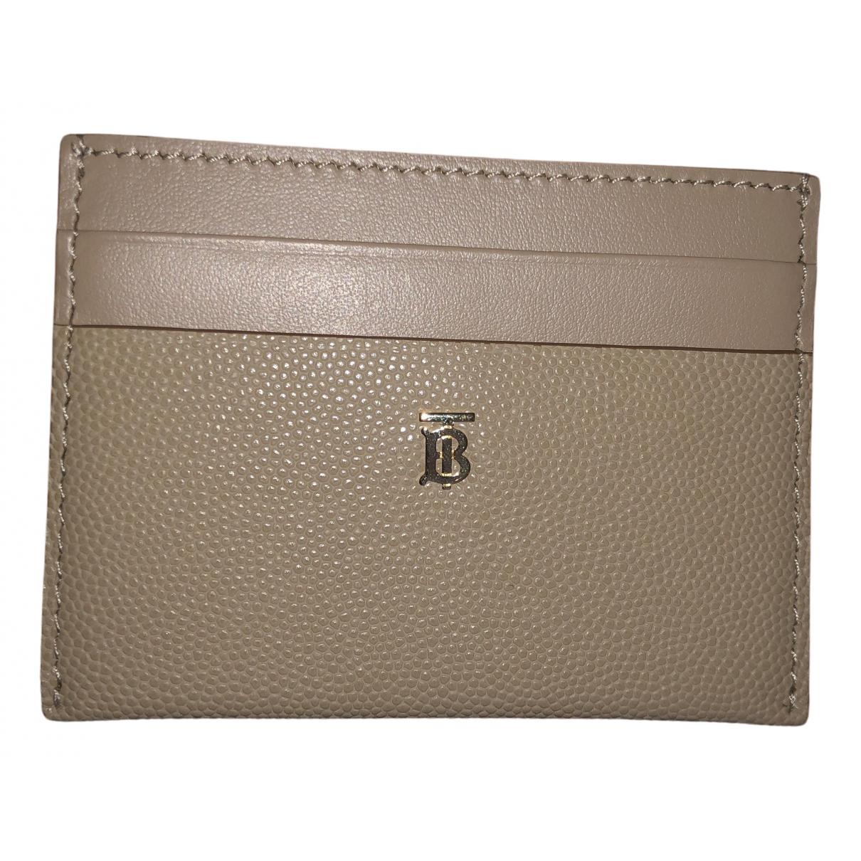 Burberry - Portefeuille   pour femme en cuir - beige