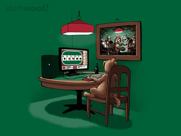 Dog Playing Poker Online T Shirt