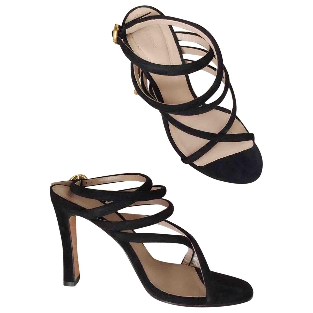 Chloé \N Black Leather Sandals for Women 37 EU