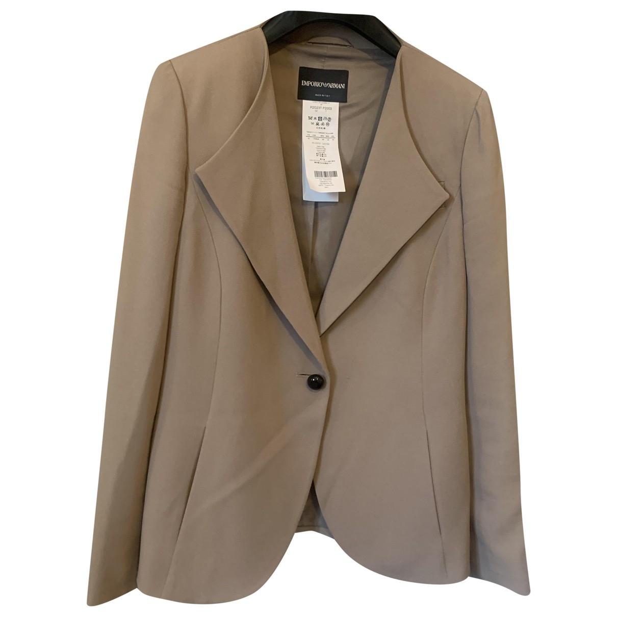 Emporio Armani \N Beige Silk jacket for Women 42 IT